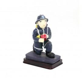Statuina pompiere idrante - divisa blu